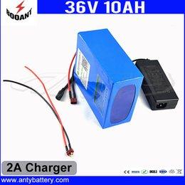 Опт Электрическая батарея велосипеда 36 В 10Ah использовать 18650 ячеек с 2A зарядное устройство литиевая аккумуляторная батарея 36 В встроенный 30A BMS Бесплатная доставка