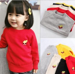 cotton jumper wholesale NZ - 5 color INS styles new arrival boy cartoon Pacifier doll sweater o-neck children long sleeve 100% Cotton pullover kids boy casual sweaters