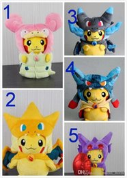 $enCountryForm.capitalKeyWord Canada - 22CM Pikachu plush toys, 5style MEGA flame dragon XY bluestone sloughed Lukaliao Pikachu coat cloak