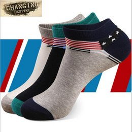 Barato Veludo De Meninos-Meias de algodão Four Seasons para homens Boca superficial Invisible Ship Socks Molho de humidade do menino Wicking Anti Odor Socks