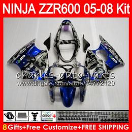 China 8Gifts 23Colors Body For KAWASAKI NINJA ZZR 600 05 06 07 08 32NO96 Camouflage 600CC ZX600 ZZR600 05 ZZR-600 2005 2006 2007 2008 Fairing kit cheap ninja gold suppliers