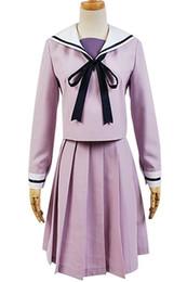Vente en gros Kukucos Anime Noragami Iki Hiyori Violet Marin Uniforme Robe Cosplay Costume Cadeau Pour La Fête D'halloween Vie Quotidienne