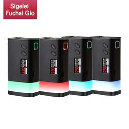 $enCountryForm.capitalKeyWord NZ - Original Sigelei Fuchai GLO 230W TC Box Mod VW Dual 18650 Battery Ecig Mods With Bottom LED Strip