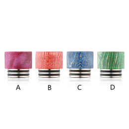 Mixed Tank UK - Stabilized wood drip tips for TFV8 tank wide bore drip tip mix color ship by random