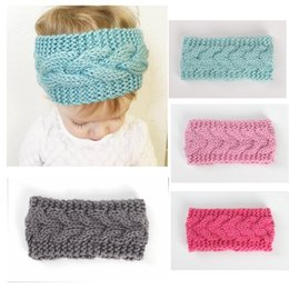 baby hand bands NZ - Solid Crocheted Headbands Baby Ear Wamers Hand Knitted Headbands for Toddlers and Babies Newborn Baby Head Wraps Turban Style Head Bands