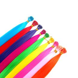 Sintético Stick I Tip Hair Extensiones de cabello rectas preenlazadas 22inch 1g / Strands Micro Ring Hair Extensions Más colores