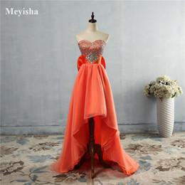 Short Orange Sweetheart Prom Dresses Canada - ZJ5074 hi-lo Sweetheart orange purple grey royal blue elegant party plus size Front Short Back Long prom dress long 2016 2017 new arrival