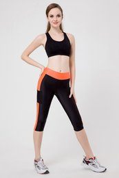 New fightiNg online shopping - 200pcs Women Sexy Pocket Leggings new women s fight leggings Fashion fitness pants Stretch the weight of the hip leggings LG003