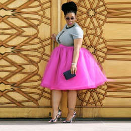 tutus for plus size Australia - Fashion Plus Size Tulle Skirt A Line Knee Length Puffy Tutu Skirt With Lining Customized Plus Skirt For Women