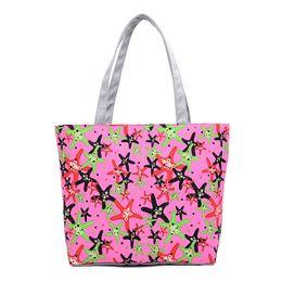 $enCountryForm.capitalKeyWord UK - Wholesale- Lovely Starfish Canvas Handbag Preppy School Bag for Girls Women's Handbags Cute Bags