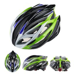 mtb helmet blue green Canada - 2016 Super Light LIVESTRONG Road Bike Cycling Helmet Road MTB Race Whisper 21 Holes Orange Red Yellow Blue Green Silver Free Size 220g