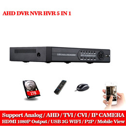 8ch Dvr Hd Canada - 8CH AHD DVR AHD-NH 1080N HD 1080P Video Recorder H.264 CCTV Camera Onvif Network 8 Channel IP NVR Multilanguage With 1TB HDD