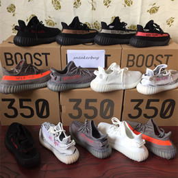 054b9a956b812 SPLY 350 boost 350 V2 Beluga Cream white Copper Black Red Core red Bred  Zebra Black white Olive Green kanye west Running shoes