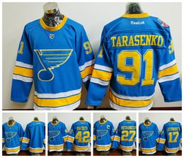 Camiseta Para Hombre Baratos-St. Louis Blues # 91 Vladimir Tarasenko 2017 Winter Hockey Jerseys # 17 Schwartz Jerseys # 42 Backes # 27 Pietrangelo Hockey Camisetas