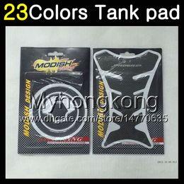 KawasaKi ninja 7r online shopping - 23Colors D Carbon Fiber Gas Tank Pad Protector For KAWASAKI NINJA ZX7R ZX R ZX750 ZX R D Tank Cap Sticker