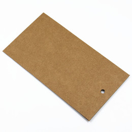 Phone Packaging Box Paper UK - 320pcs Lot DHL Brown Kraft Paper 9*16.5cm Paperboard Cell Phone Screen Protector Package Case With Hang Hole Phone Film Pack Box