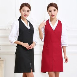 apron beauty Canada - Hairdressing apron uniform package mail Han edition style restaurant beauty nail parlor overalls