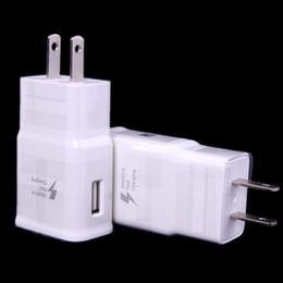 Опт 5V 2A Travel EU US Plug Настенный USB-адаптер для быстрой зарядки для смартфонов в черном или белом цвете
