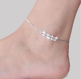 Unique Ankle Bracelet Chains NZ - Unique Nice Silver plated Chain women bell stars Anklet souvenir Ankle Bracelet Foot Jewelry Fast Free Shipping New Hot Selling 2