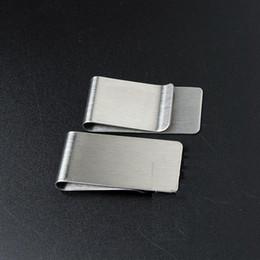 20 teile / los Edelstahl Brieftasche Kreative Geldscheinklammer Kreditkarte Geld Halter Herren Geschenk 26 * 50 * 0,8mm im Angebot