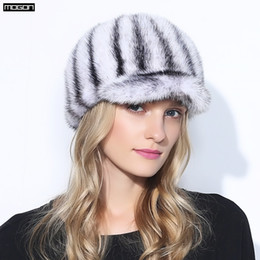 $enCountryForm.capitalKeyWord Canada - Wholesale- Women Direct Selling Rushed Adult Solid New Knight Hat Fur Hats For Winter Genuine Mink Cap Luxury Natural Water With 2017 Sale