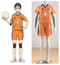 haikyuu cosplay 2019 - Haikyuu!! Karasuno High school volleyball Yuu Nishinoya yellow jersey NO.4 Cosplay Uniform halloween costumes discount h