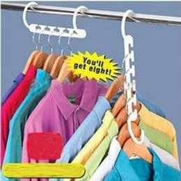 $enCountryForm.capitalKeyWord Australia - Home Hangers 8pieces 1set Space Saver Wonder Magic Clothes Closet Organizer Hook Drying Rack Multi-Function Clothing Storage Racks