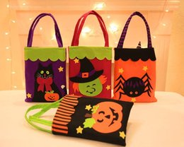 $enCountryForm.capitalKeyWord Canada - Halloween Trick or Treat bag pumpkin Witches ghost Bat reusable candy carry tote felt handbag organizer festive decor props gift wrap