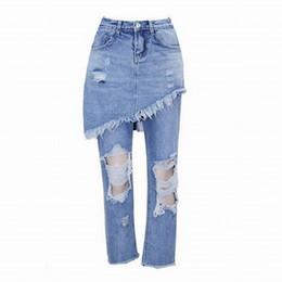 $enCountryForm.capitalKeyWord UK - Wholesale- New arrival Vintage 2017 Womens Ripped Jeans Holes Denim Pants Trousers vaqueros mujer Irregular Flare Pants Jeans feminina