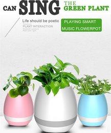 Mini vasi da fiori intelligenti di musica di Bluetooth intorno al giardino domestico dei vasi da fiori della pianta della piantatrice della decorazione dell'ufficio del giardino domestico con la scatola al minuto Trasporto libero