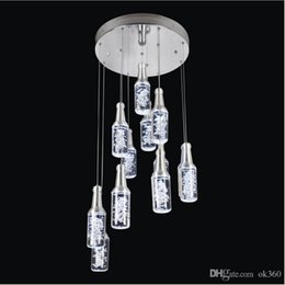 led bar bottle lights NZ - New LED acrylic Pendant Lamps Hotel bar counter KTV pendant light Restaurant chandelier Bottle droplight Bottle Bubble pendant Lamp light