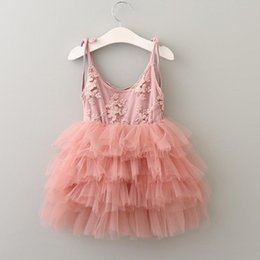 $enCountryForm.capitalKeyWord Canada - Kids Girls Lace Dresses Baby Girl Floral Embroidery Dress Boutique 2017 Infant Princess Cake Tutu Dress for Party Children Clothing B110