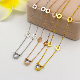 $enCountryForm.capitalKeyWord Australia - Korean version of the LOVE single ring drill short necklace female fashion trendsetter all-match super flash neck bone chain chain steel