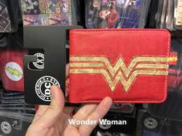 Fresh Movies Canada - New Arrival Anime Wallet Hot Movie Wonder Woman LOGO Purse carteira feminina Dollar Card Holder Bag Casual Leather Short Wallets
