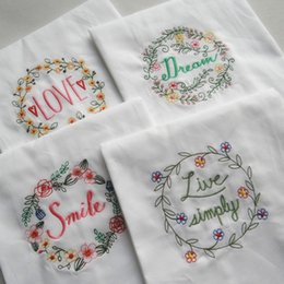 hand embroidered towels 2019 - Cotton Table Napkin Hand Made Embroidered Baby Dinner Kitchen Towel Upscale Cloth Napkins Home Decor Hot 4 8sd F R disco