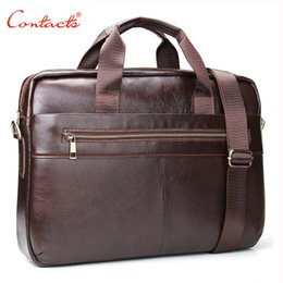 56e823a11ed Wholesale- CONTACT S New Fashion Genuine Leather Men Cowhide Messenger Men  Messenger Bags 14