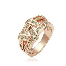 Wholesale Designs Gold Plated Crystal Ring Weave Health Diamond Jewelry Engagement Rings for Women DHL Free Creative Style in Europe