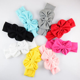 $enCountryForm.capitalKeyWord Canada - free shipping 12pcs Bow 11cm Belt Width 6cm Charming Baby Hair Accessories Children Cotton Bow Hair Band Sweet Head Band 12color D07