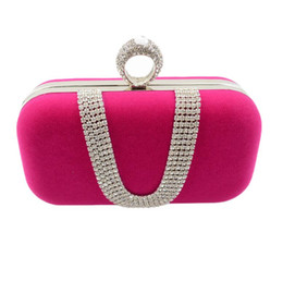 Chinese  Diamond Ring Evening Bags Women Lady Luxury Velour Crystal Handbags Shoulder Bag Wedding Clutch Purse Hand Bags manufacturers