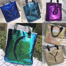 35857ece30fa Reversible Tote Bag Canada - New Mermaid Sequin totes Bags Mermaid Bright  Handbags Glitter Sequins Totes