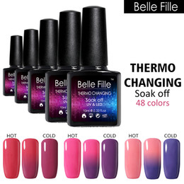 Tremper Le Gel De Couleur Poli Pas Cher-Vente en gros - Changement de température Couleur Gel aux ongles Polonais Soak Off Laque Vernis 10ml Hot Gel Chamelon UV Thermal Polish Manicure Art Gel Lak
