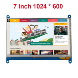 tft lcd touch screen module UK - Freeshipping 7 Inch Raspberry Pi 3 Touch Screen 1024 * 600 LCD Display HDMI Interface TFT Monitor Module Compatible Raspberry Pi 2 Model B