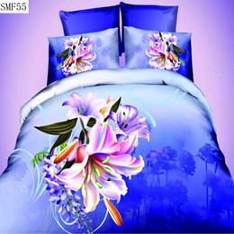 3d Bedding Set White Rose Australia - Wholesale-Supply polyester material 3d series 4pcs bedding set the queen size include pillowcase duvet cover bed sheet