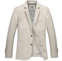 $enCountryForm.capitalKeyWord Canada - HOT 2017 new arrival spring slim linen casual suit men's color gray Two Button outerwear single plus size M L XL XXL 3XL 4XL 5XL