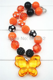 $enCountryForm.capitalKeyWord Canada - Fashion Jewelry Orange Butterfly chunky necklaces for girls and kids CB251