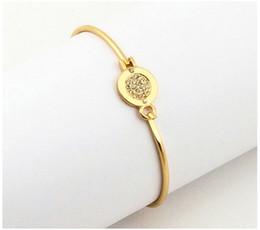 New York Модный Бренд Tone Браслеты круглые подвески браслеты серебро / золото / розовое золото цвета ювелирные изделия для женщин на Распродаже