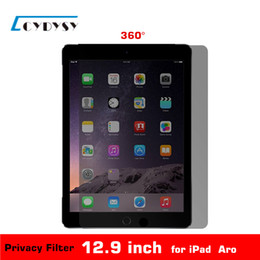 $enCountryForm.capitalKeyWord Canada - Wholesale- 12.9 inch PET material 360 Degree Tablet PC Privacy Filter Screen Protector for iPad Air Aro (216x301mm) free shipping