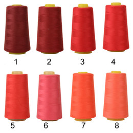 yard machines Canada - 1 Roll Durable Polyester Sewing Thread For Overlocking Machine 3000 Yards Spools Cones 40s 2 70 Colors For Selection