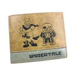 $enCountryForm.capitalKeyWord NZ - Anime Undertale Game Short Card Holder Purse PU Leather New Sale Student Lovely Fans Pocket Money Bag