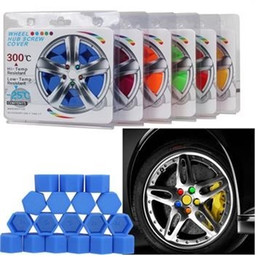 hex bolt caps Canada - 1 Set 21mm Hex Wheel Lug Nut Protection Caps Noctilucent Silicone Wheel Screw Cover Fluorescent Rim Bolt Cap Car Styling Parts